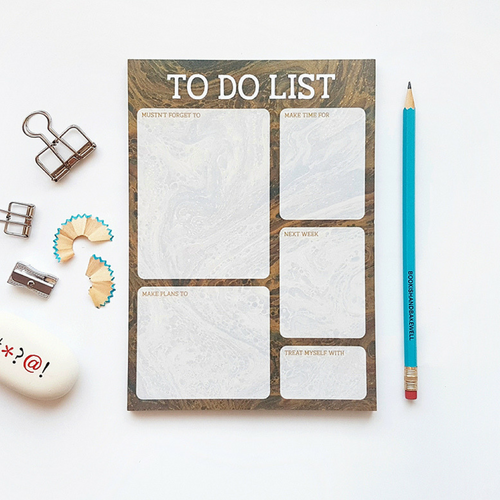 to do list - stationery - notepad - self care planner - bookish and bakewell