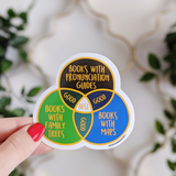 Bookish Extras venn diagram vinyl sticker - Bookish and Bakewell
