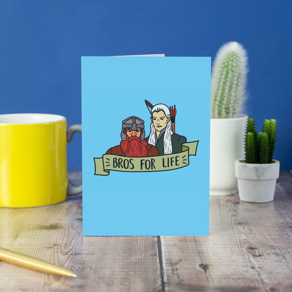 Bros For Life card - Bookish and Bakewell