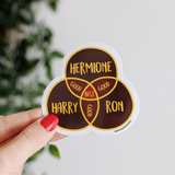 Golden Trio vinyl sticker - Bookish and Bakewell