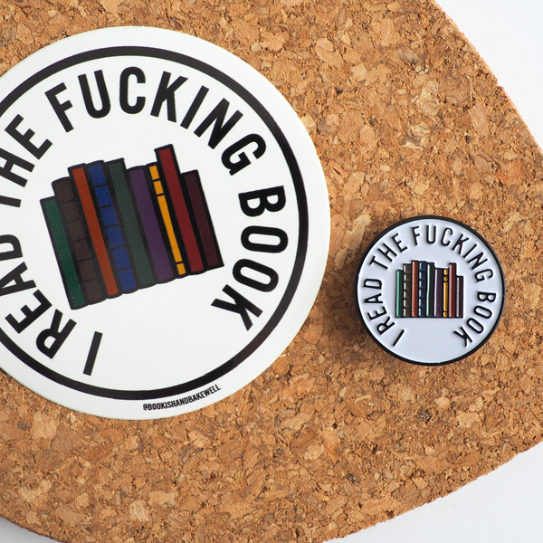 I Read The... Book enamel pin - Bookish and Bakewell