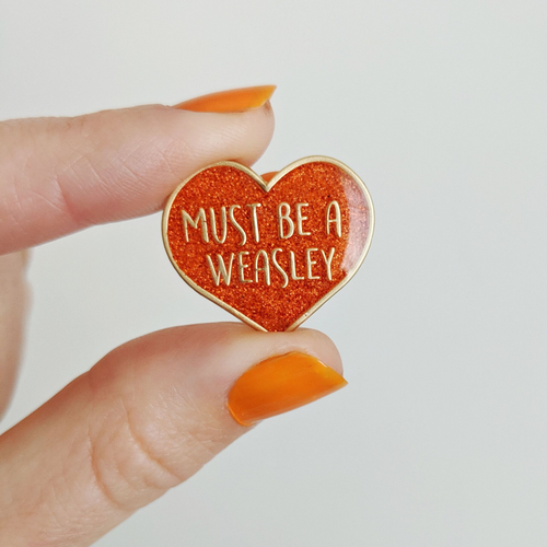 Must Be A Weasley enamel pin - Bookish and Bakewell