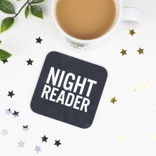 Night Reader coaster - Bookish and Bakewell