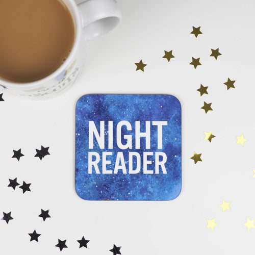 Blue Night Reader coaster - Bookish and Bakewell