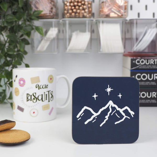 Night Court coaster - Bookish and Bakewell