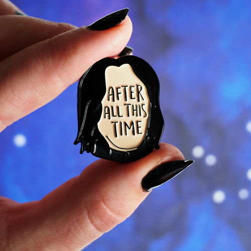 After All This Time enamel pin - Bookish and Bakewell