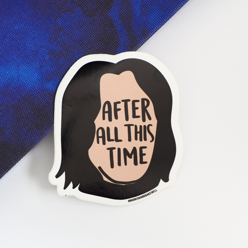 After All This Time sticker - Bookish and Bakewell