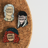 Badass Mother enamel pin - Bookish and Bakewell