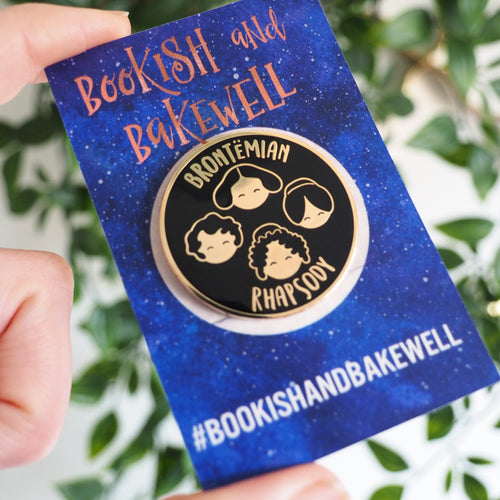 Brontëmian Rhapsody enamel pin - Bookish and Bakewell