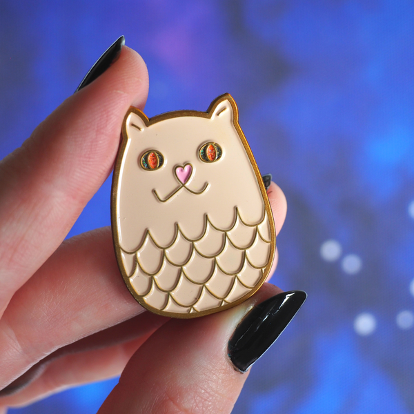 Kitty Dragons enamel pin - Bookish and Bakewell