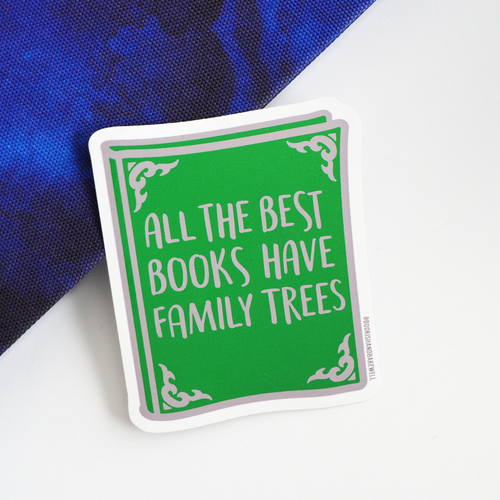 Family Trees sticker - Bookish and Bakewell