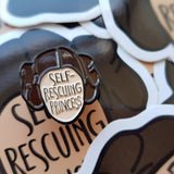 Self-rescuing Princess enamel pin - Bookish and Bakewell