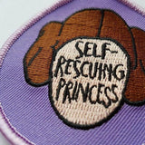 princess leia patch - sew on patch - bookish and bakewell - self rescuing princess - feminist patch