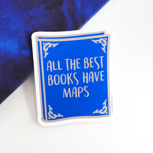Maps sticker - Bookish and Bakewell