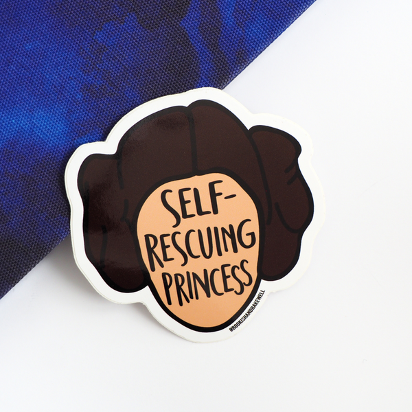 Self-rescuing Princess sticker - Bookish and Bakewell