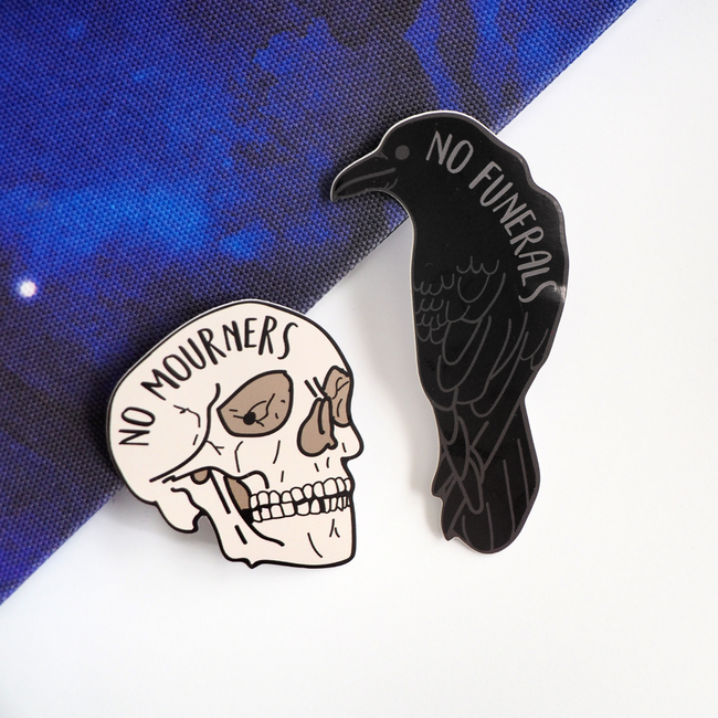 No Mourners, No Funerals sticker set - Bookish and Bakewell