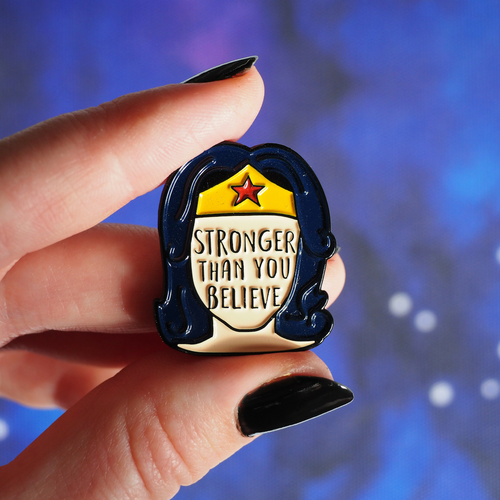 Stronger Than You Believe enamel pin - Bookish and Bakewell