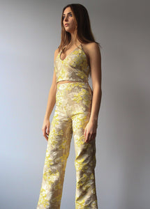 Yellow Metallic Pants