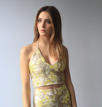 Yellow Floral V-Top