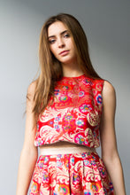 Chinese Brocade High-Low Top
