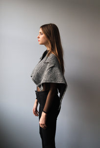 Grey Wool Poncho