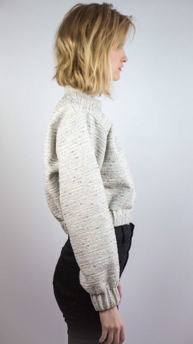 TWEED Scrunchy Sweatshirt