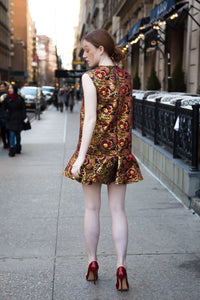 Red and Gold Dress