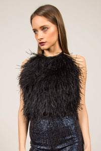 Feather Top with Open Back