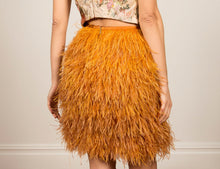 Yellow Feathered Skirt