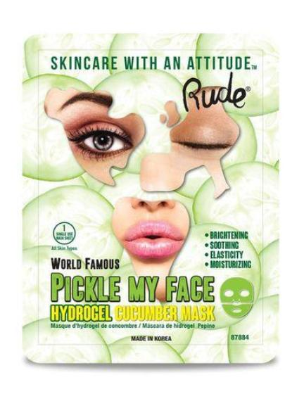 RUDE COSMETICS Pickle My Face Hydrogel Cucumber Mask
