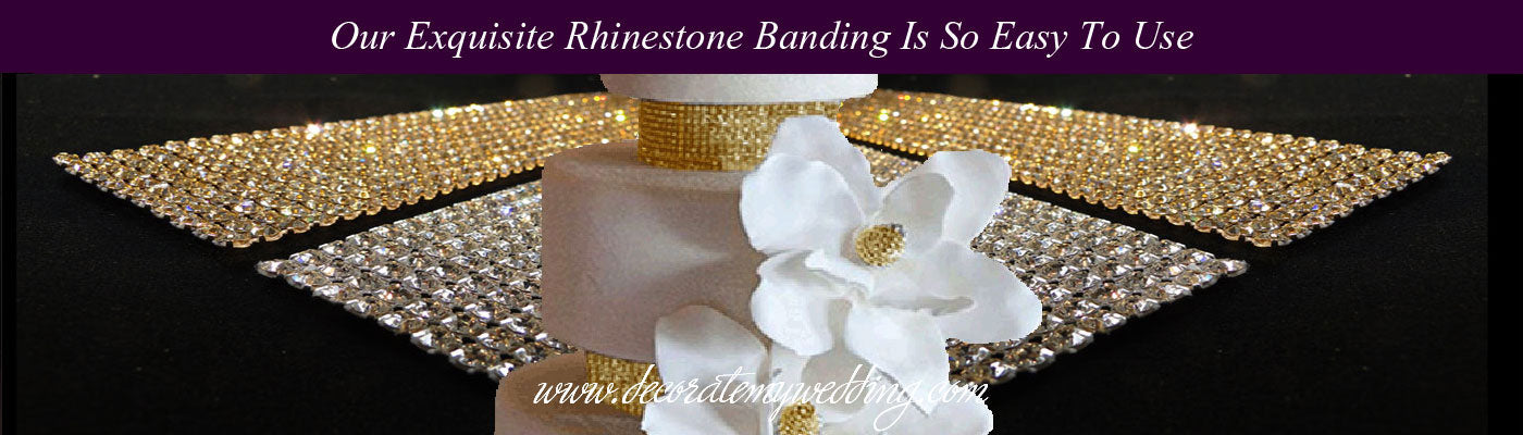 VIEW ALL Cake Banding, Ribbons & Trims - Wedding Cake Bling