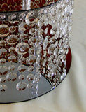 ADDISON Gorgeous Cake Stand with Hanging Crystals – what you will receive.