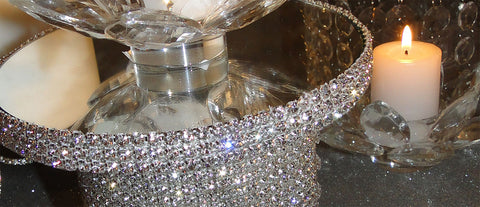 Mini Rhinestone Candle Holder