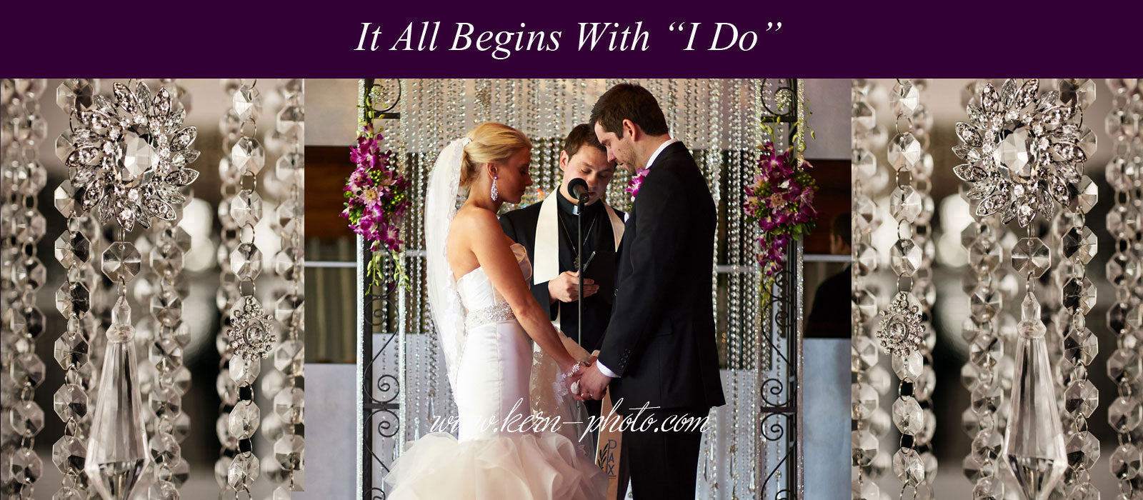 Crystal I DO Bridal Arch