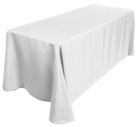 Start with a simple, elegant tablecloth.