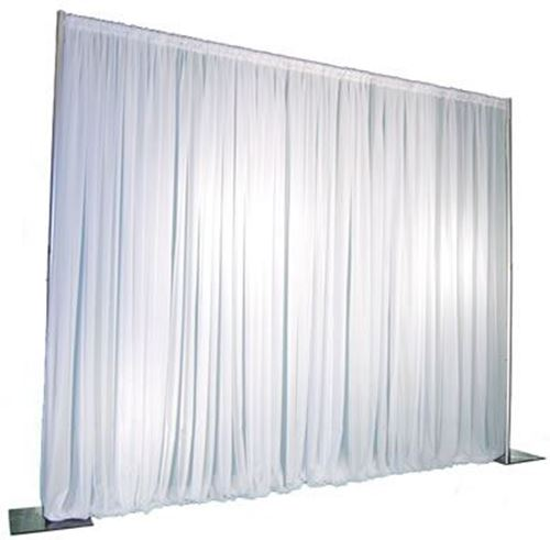 Backdrop Voile Drapes & Pipe & Drape System 30 FT long