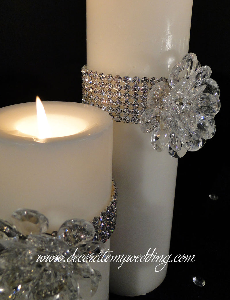 Z-HENNA Pillar Candle w/ Crystal Bloom SOLD OUT