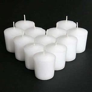 CANDLES White Votive Candles (Box of 36) SOLD OUT
