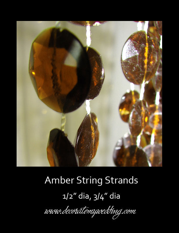 BEAD STRANDS Amber (Bundle of 9)