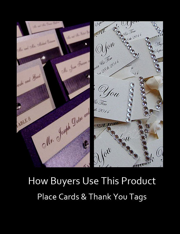 HOW TO USE – Place Cards & Thank You Notes