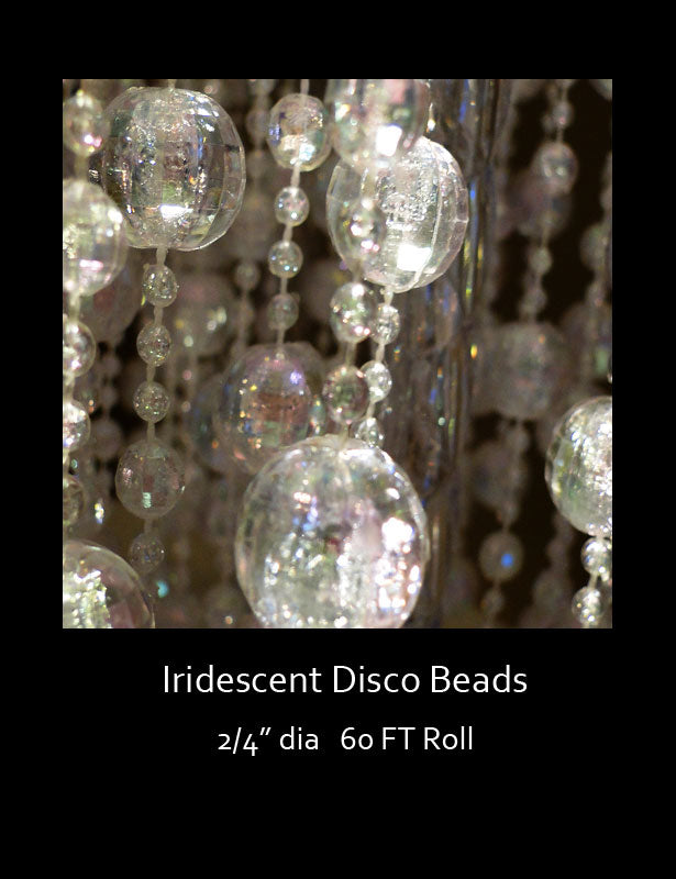 A close up look at the iridescent finish on the beads.