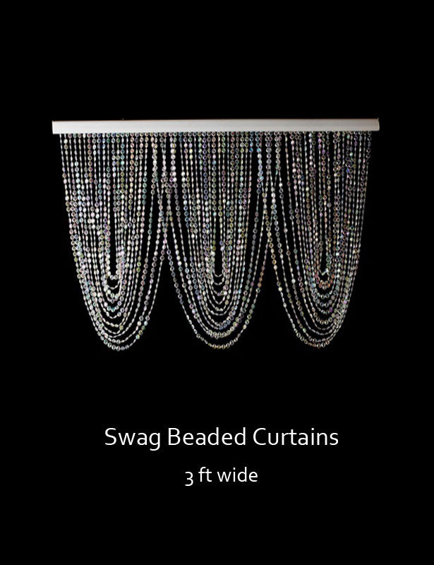 This crystal swag is a perfect way to create a beaded curtain for any doorway.