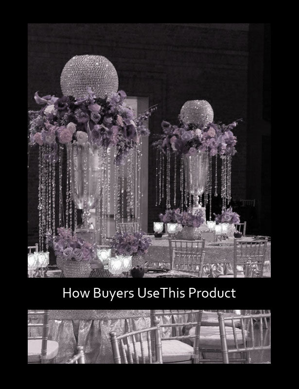 HOW TO USE – Large Wedding Centerpieces