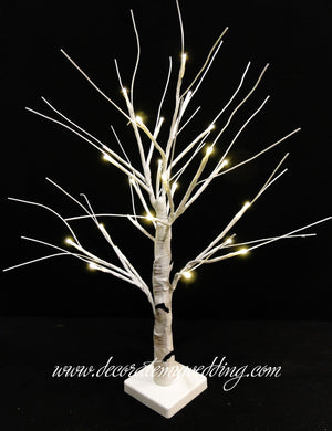 White Birch Tabletop Tree