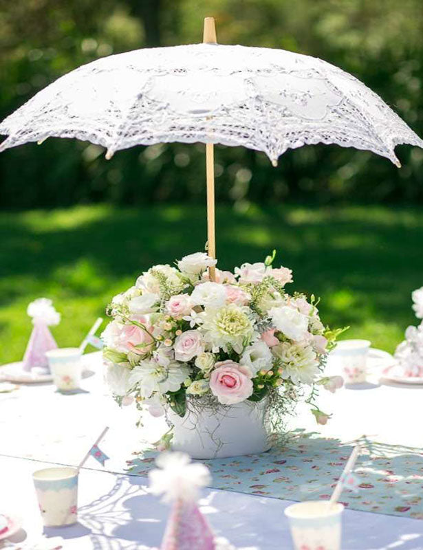 This bridal shower umbrella is a perfect centerpiece for that spring wedding.