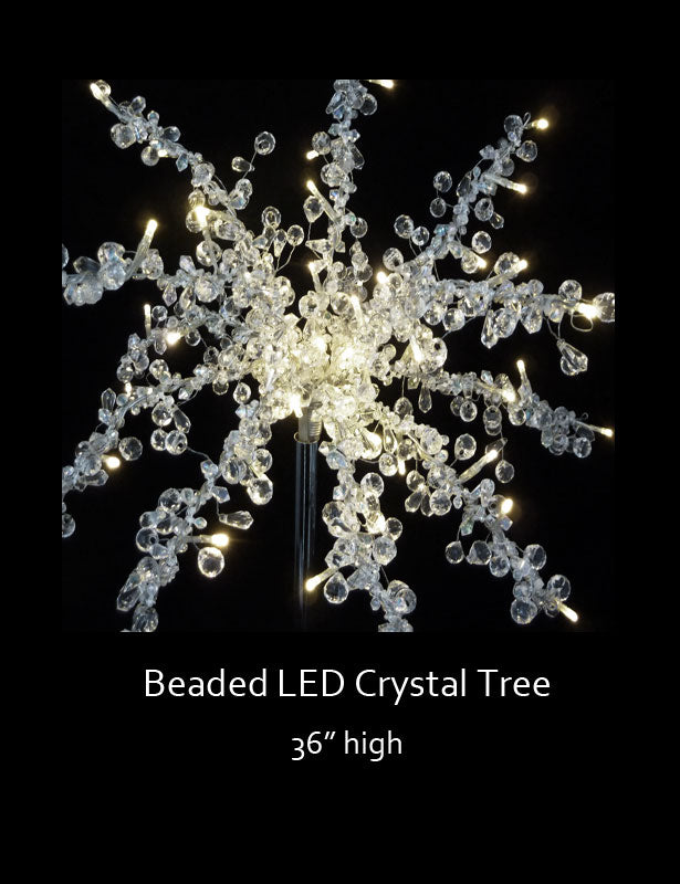 LED lights will make the branches glow.