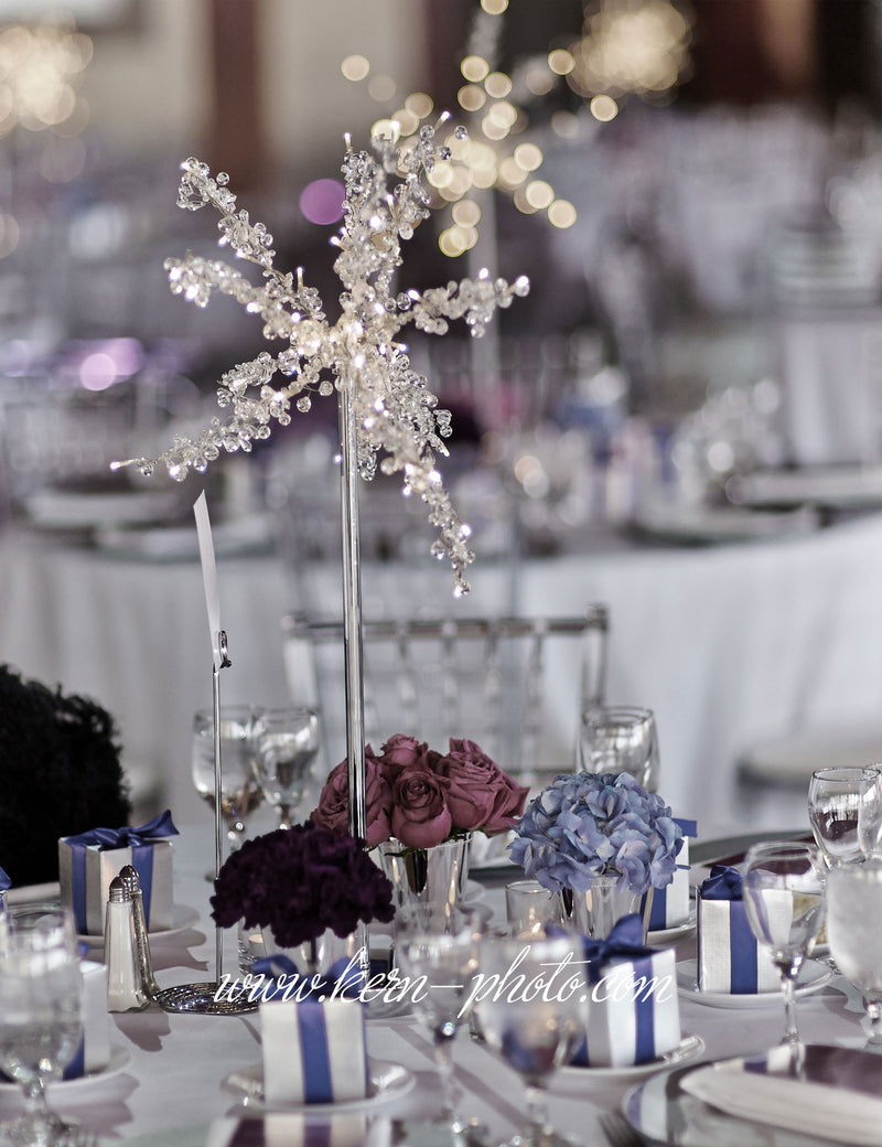 Beautiful crystal wedding tree decoration.