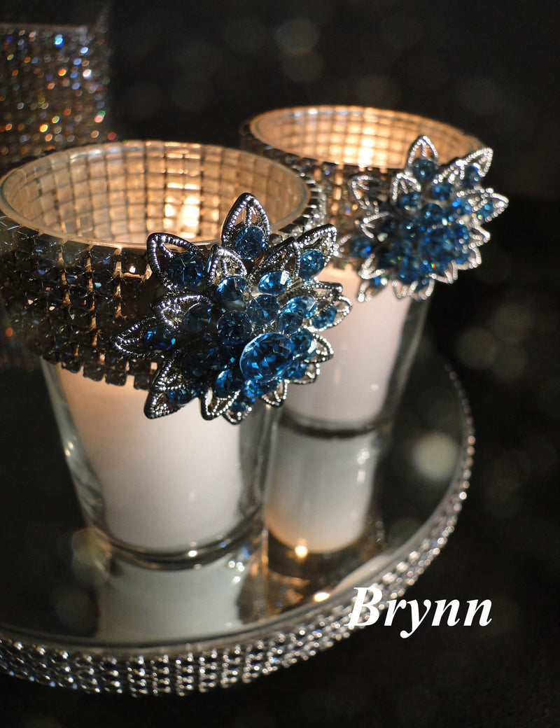 CANDLES Blue Votive Holders (sold individually)