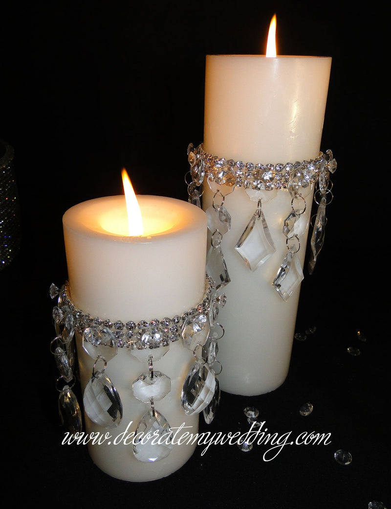HATTIE Pillar Candle w/ Candle Dangle