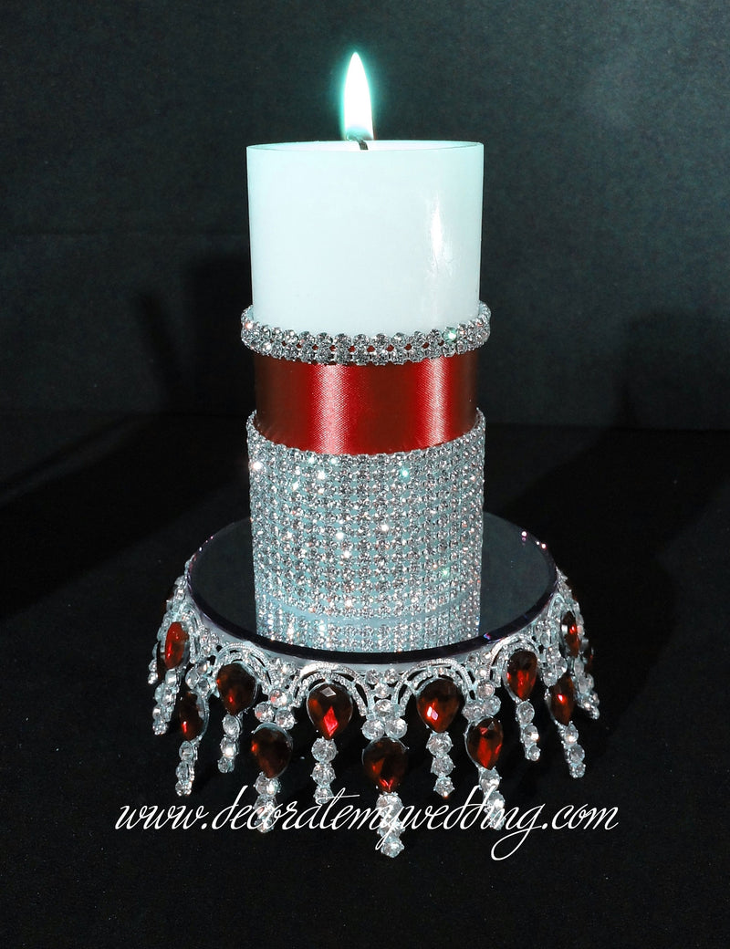 CANDLE STAND MELANIE Stand w/ Gemstones SOLD OUT